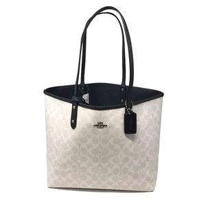 Coach Signature Reversible Tote Midnight Bag